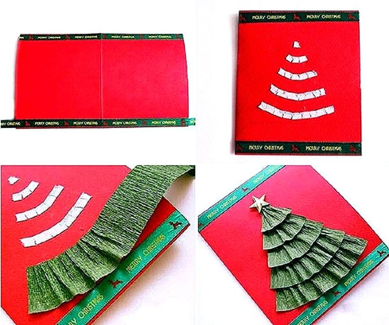 видно открытки на новый год своими руками из бумаги и картона елочку фото видно