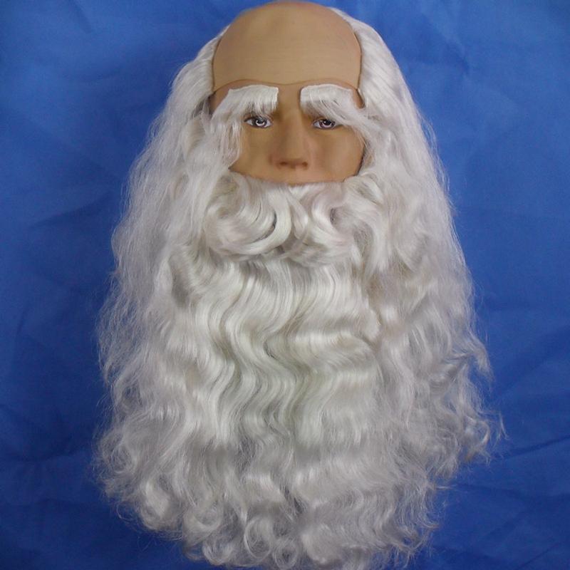 Борода Деда Мороза из парика