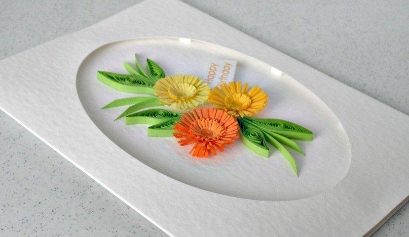 Хризантемы в технике квиллинг