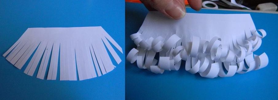 Борода деда мороза из бумаги своими руками