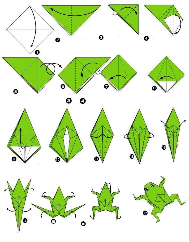 оригами подробно в схемах модульные