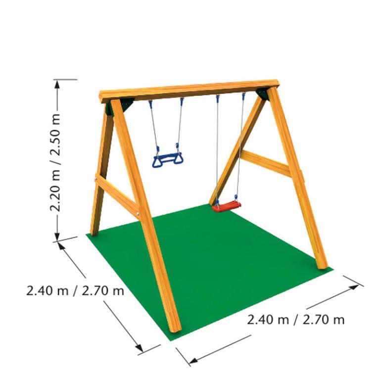 Схема размеров качелей