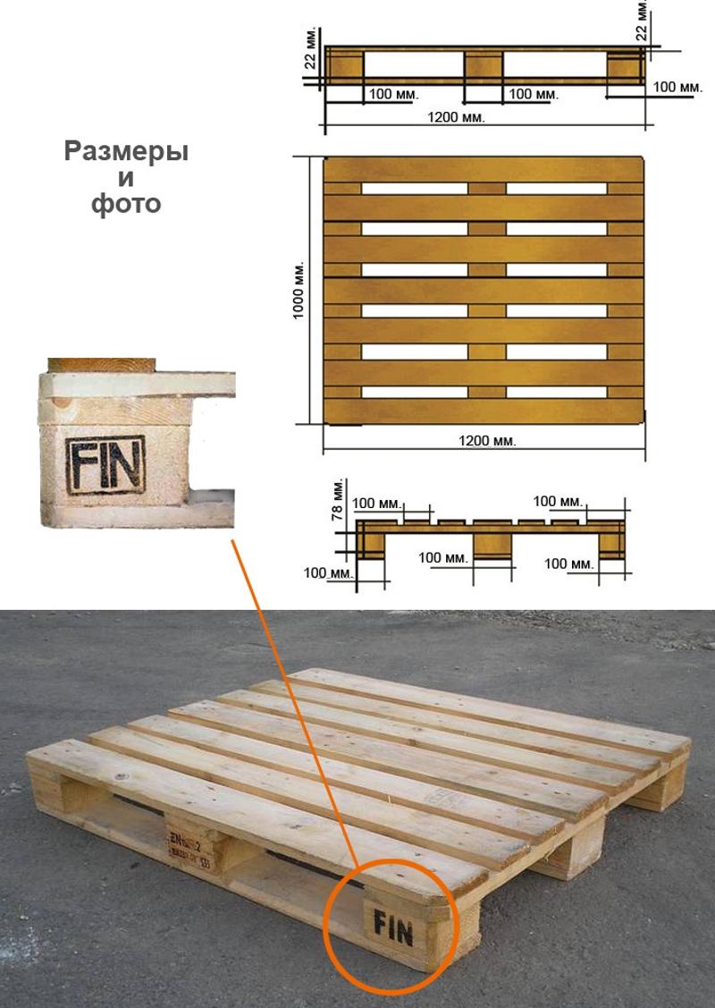 Размеры финских паллет