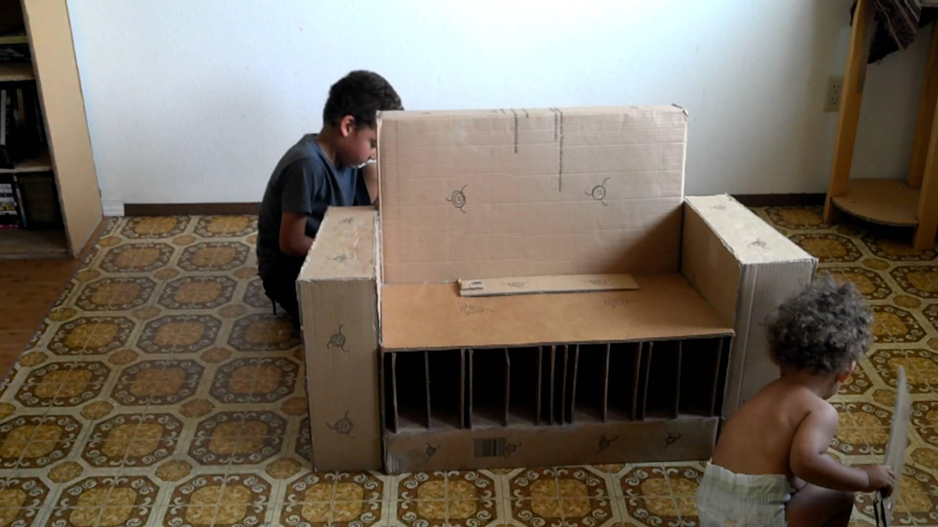 Модульная мебель из картона