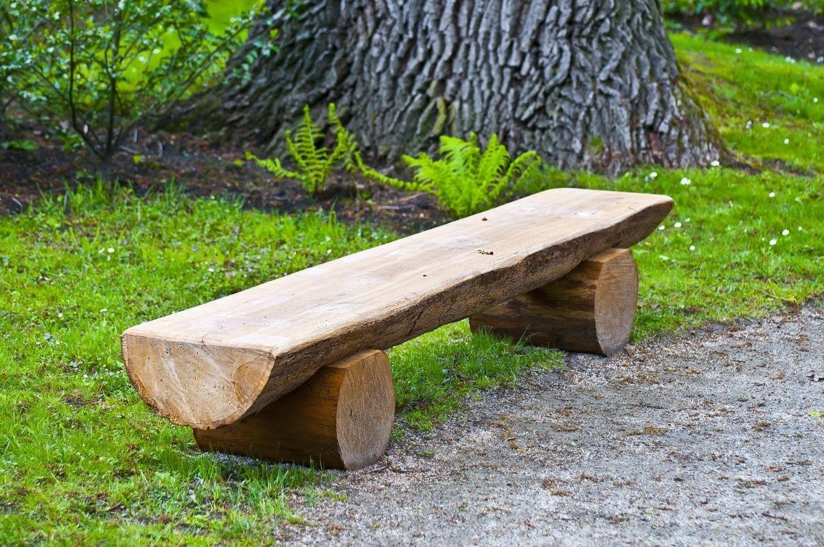 Как сделать скамейки из бревна