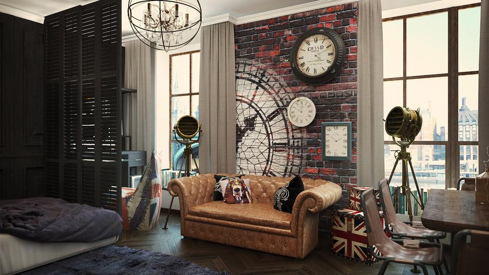 Большая квартира-студия легко изменяется при помощи декора, аксессуаров или текстиля