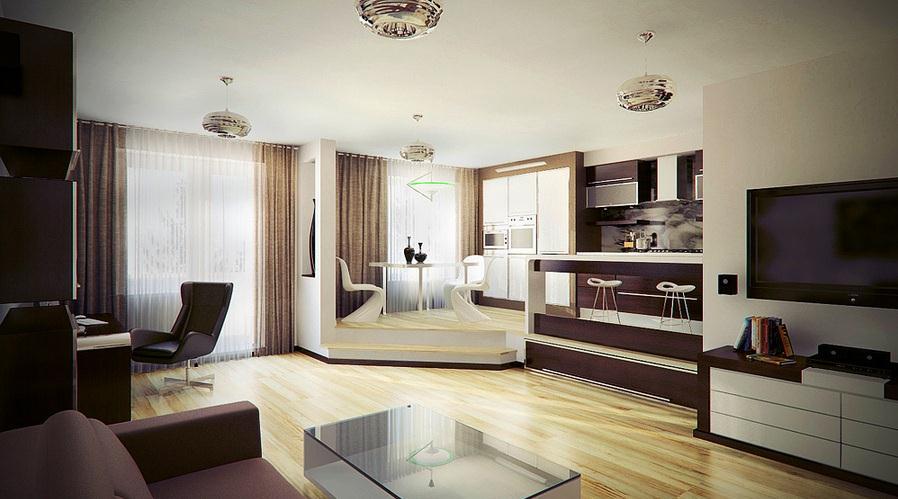 Увлечение открытыми планировками жилья пришло в Россию с Запада, где такой вариант популярен уже около 100 лет
