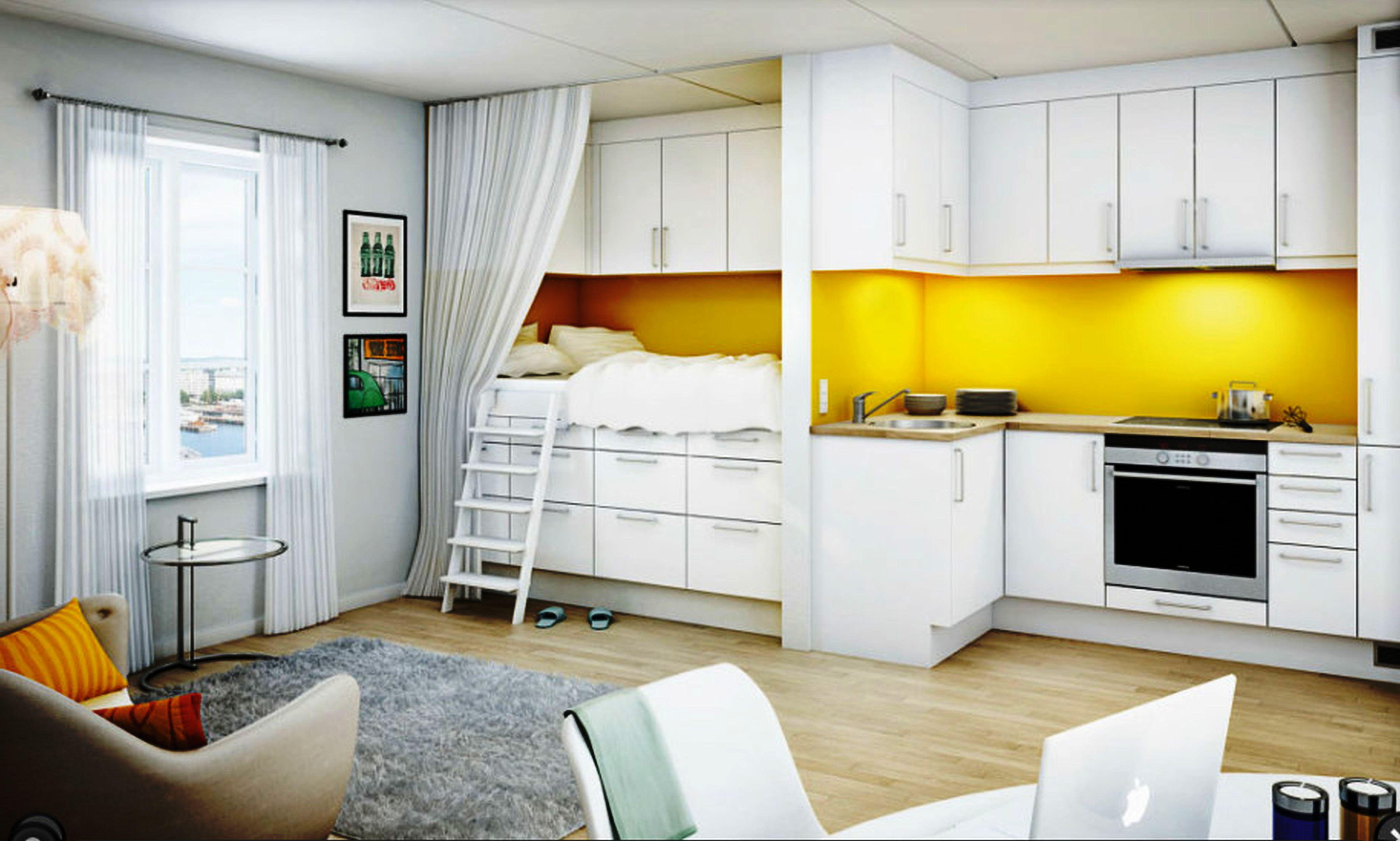 Дизайн проект квартиры 23 кв икеа