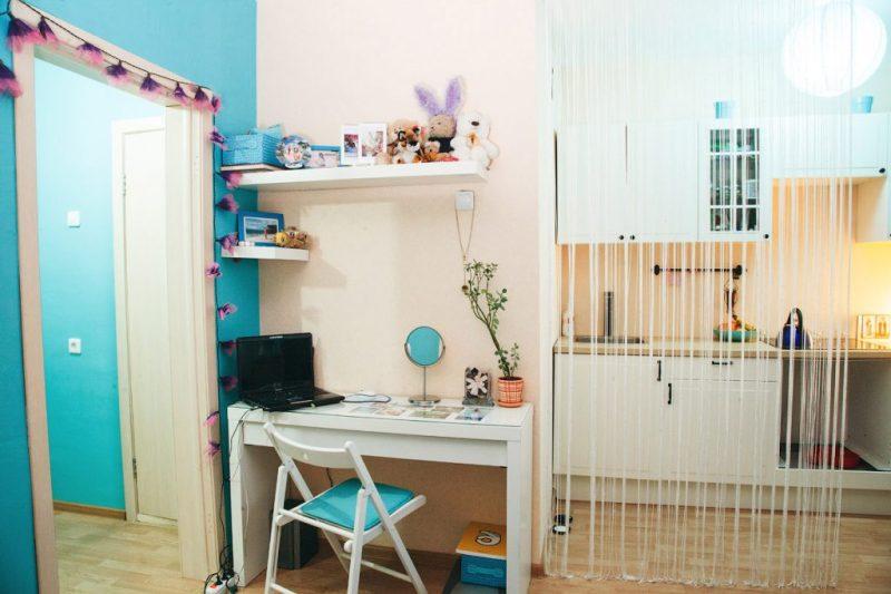 Цветовая гамма квартиры-студии