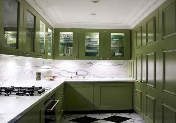 Фото кухни в оливковом цвете 2