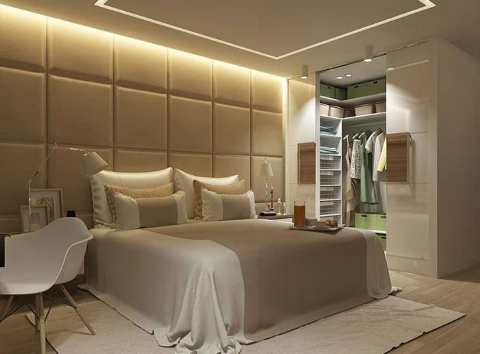 Интерьер спальни-гардеробной 2