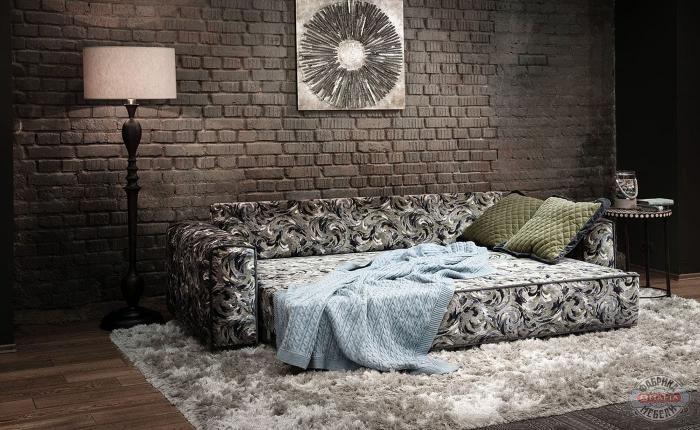 Спальное место в интерьере спальни (диван)