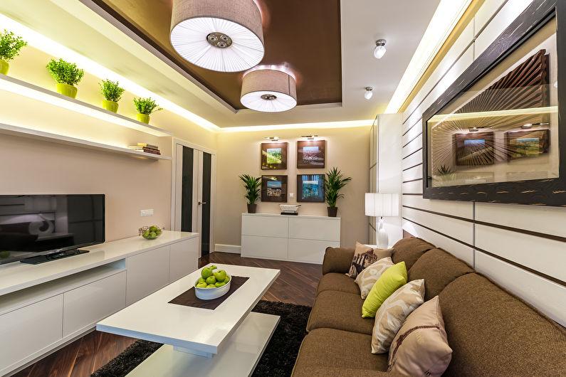 Какой выбрать дизайн гостиной комнаты размером 20 кв. м