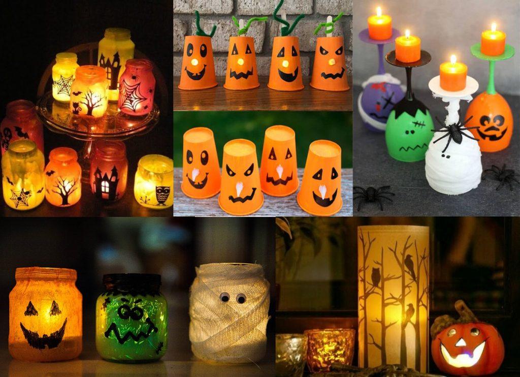 Подсвечники на Хэллоуин
