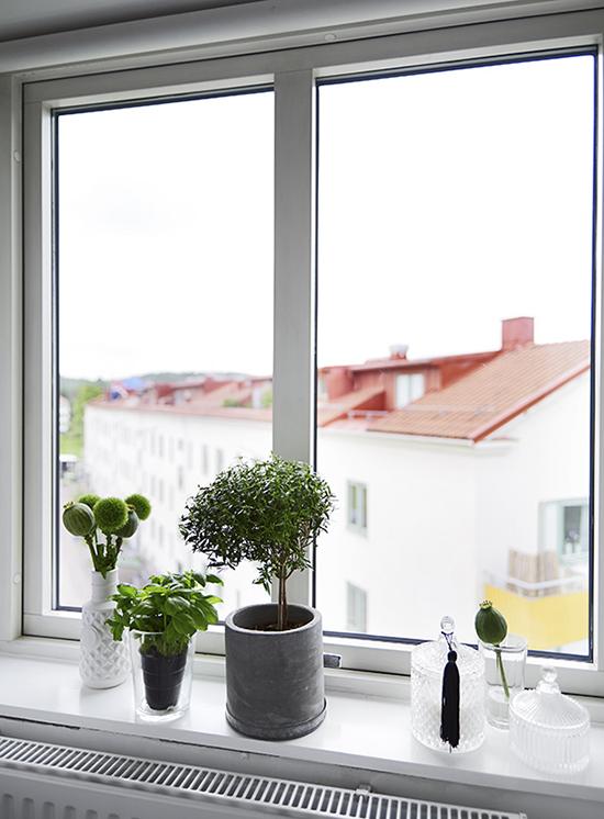 Вид из окна квартиры на верхнем этаже