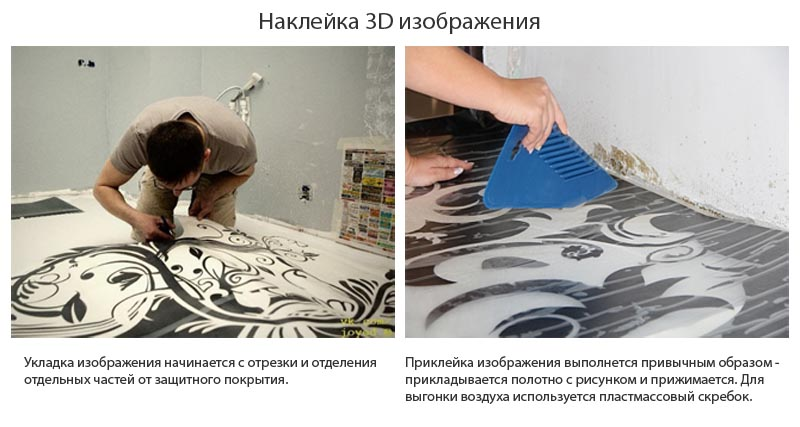 Наклеивание 3D изображения