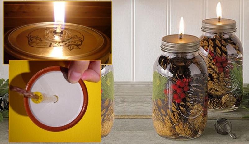 Декор свечей в банках