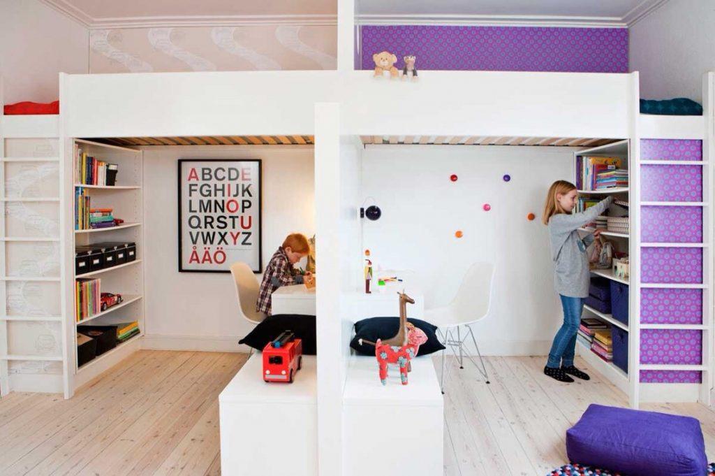 Детская комната для разнополых детей разного возраста