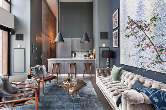 Интерьер квартиры в Бруклине