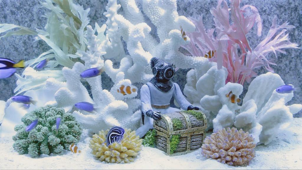 Пример аквариума в авангардном стиле