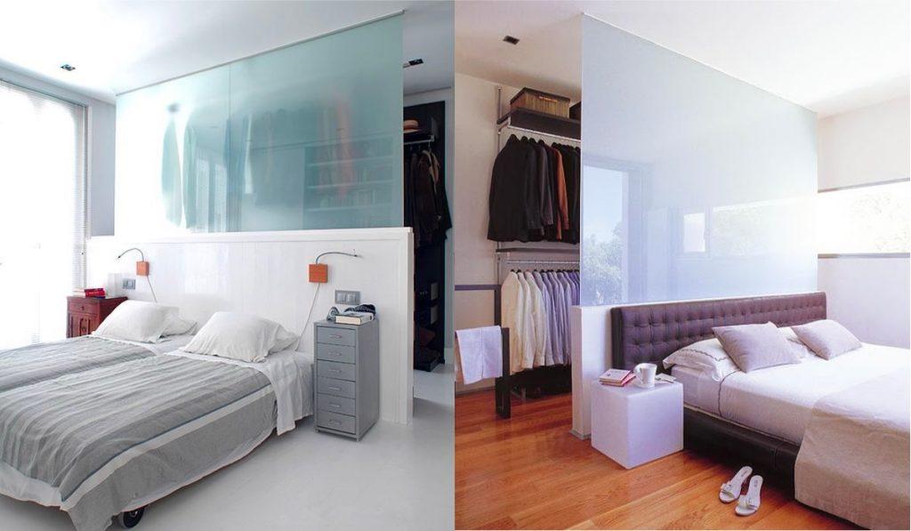 Как оформить гардеробную в спальне