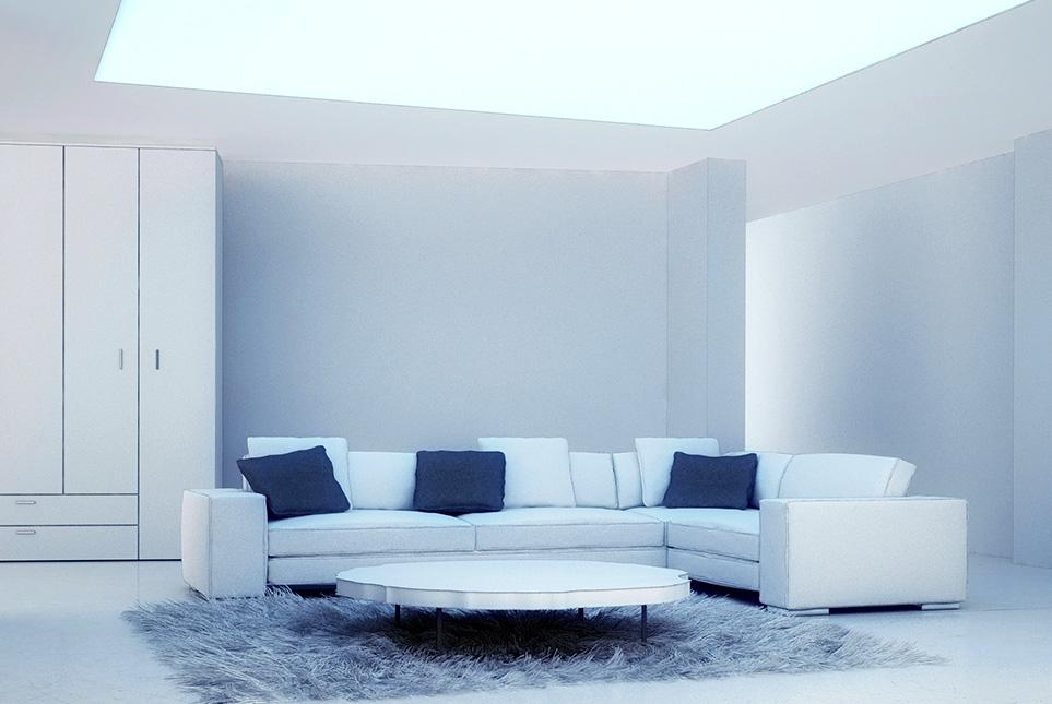 Подсветка в гостиной в стиле минимализм