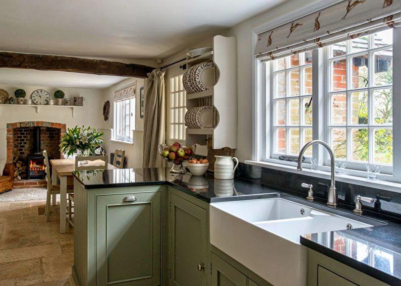 Кухня в стиле кантри — тёплый комфортный интерьер с наглядными фото