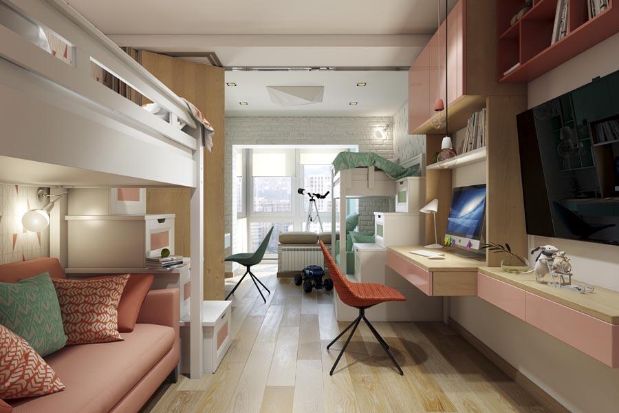 Расположение мебели в разных углах комнаты