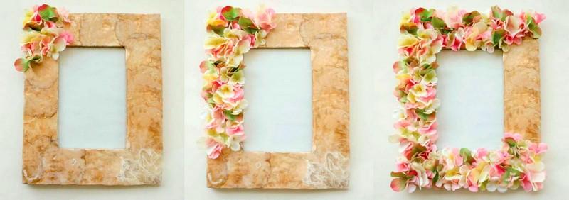 Декор рамки для фото своими руками на 8 марта